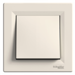 One-way Switch, 10 AX, IP44, Cream
