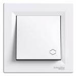 Two-way switch, 10 AX, Screw terminals, White