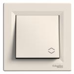 Two-way Switch 10 AX, IP44, Cream