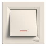 One-way Switch, 10 AX, with locator lamp, Cream