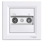 TV-R Antenna outlet IEC male + female, Intermediate (8dB), White