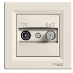 TV-SAT Antenna outlet IEC male + F, Intermediate (8dB), Cream