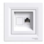 Single Data and telephone outlet RJ45 (Cat5e U/UTP), White