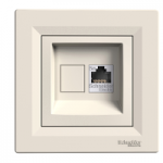 Double Data and telephone outlet RJ45 (Cat5e U/UTP), White