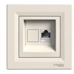 Single Data and telephone outlet RJ45 (Cat6 U/UTP), Cream