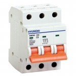 Miniature Circuit Breaker HiBD63h, 3P, B, 1 A, 10 kA