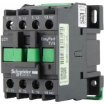 Contactor EasyPact TVS, 3P with (1 N/O) auxiliary contacts, 415V AC coil 50 Hz, 12A
