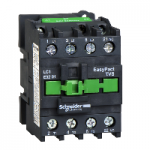 Contactor EasyPact TVS, 3P with (1 N/C) auxiliary contacts, 110V AC coil 50 Hz, 38A