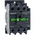 Contactor EasyPact TVS, 3P with (1 N/C + 1 N/O) auxiliary contacts, 380V AC coil 50 Hz, 40A