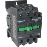 Contactor EasyPact TVS, 3P with (1 N/C + 1 N/O) auxiliary contacts, 220V AC coil 60 Hz, 95A