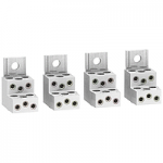 Aluminium connectors for 6 cables, set of 4