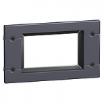 Front-panel IP40 escutcheon for Vigi or ammeter module