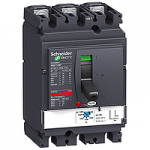 Circuit breaker NSX100 Magnetic MA , 2.5 A, 3P/3d, H