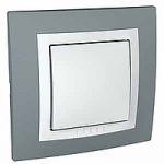 Complete one-way Switch, 10 AX, White/Technical grey