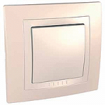 Complete Push-button, 10 A – 250 V AC, Ivory/Cream