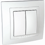 Complete double one-way Switch, 10 AX, White