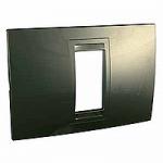 Italian Cover Frame Unica Allegro, Bronze, 1 module