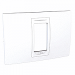 Italian Cover Frame Unica Allegro, White, 1 module