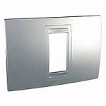 Italian Cover Frame Unica Allegro, Aluminium, 1 module