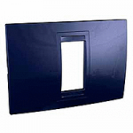 Italian Cover Frame Unica Allegro, Indigo blue, 1 module