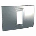 Italian Cover Frame Unica Allegro, Dull silver, 1 module
