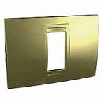 Italian Cover Frame Unica Allegro, Golden, 1 module