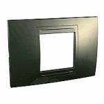 Italian Cover Frame Unica Allegro, Bronze, 2 modules