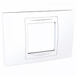 Italian Cover Frame Unica Allegro, White, 2 modules