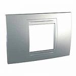 Italian Cover Frame Unica Allegro, Aluminium, 2 modules