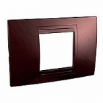 Italian Cover Frame Unica Allegro, Terracotta, 2 modules