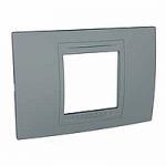Italian Cover Frame Unica Allegro, Technical grey, 2 modules