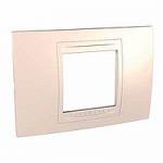 Italian Cover Frame Unica Allegro, Cream, 2 modules