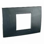 Italian Cover Frame Unica Allegro, Graphite grey, 2 modules