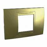 Italian Cover Frame Unica Allegro, Golden, 2 modules