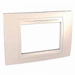 Italian Cover Frame Unica Allegro, Ivory, 3 modules