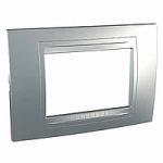 Italian Cover Frame Unica Allegro, Aluminium, 3 modules