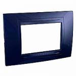 Italian Cover Frame Unica Allegro, Indigo blue, 3 modules