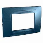 Italian Cover Frame Unica Allegro, Glacier blue, 3 modules