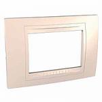 Italian Cover Frame Unica Allegro, Cream, 3 modules
