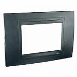 Italian Cover Frame Unica Allegro, Graphite grey, 3 modules