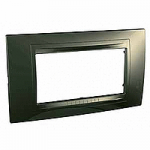 Italian Cover Frame Unica Allegro, Bronze, 4 modules