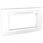 Italian Cover Frame Unica Allegro, White, 4 modules