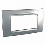 Italian Cover Frame Unica Allegro, Aluminium, 4 modules