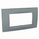 Italian Cover Frame Unica Allegro, Technical grey, 4 modules