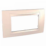 Italian Cover Frame Unica Allegro, Cream, 4 modules