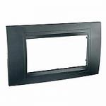 Italian Cover Frame Unica Allegro, Graphite grey, 4 modules