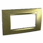 Italian Cover Frame Unica Allegro, Golden, 4 modules