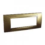 Italian Cover Frame Unica Allegro, Bronze, 6 modules