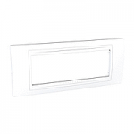 Italian Cover Frame Unica Allegro, White, 6 modules