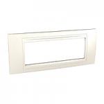 Italian Cover Frame Unica Allegro, Ivory, 6 modules